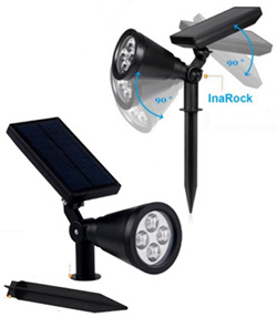 InaRock 2-In-1 Solar Spotlight For Tree, Flag, Driveway