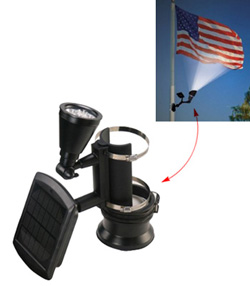 Nature Power solar spot lights for flagpoles