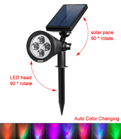 Amir Color Changing Solar Spotlight