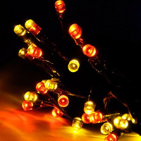 Lycheers 17m 100 LED Solar Fairy String Lights